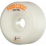 "Mini Logo 7.63"" Rough Polished/Black Trucks + ML Bearings + A-cut 53mm x 90a White Wheels"