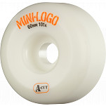 Mini Logo Skateboard Wheel A-cut 60mm 101A White 4pk