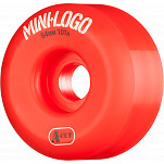 Mini Logo Skateboard Wheels A-cut 54mm 101A Red 4pk