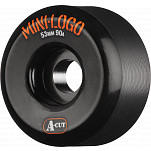 Mini Logo Skateboard Wheels A-cut 53mm 90A Black 4pk