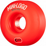 Mini Logo Skateboard Wheels C-cut 52mm 101A Red 4pk
