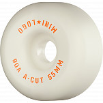 "Mini Logo Skateboard Wheels A-cut ""2"" 55mm 90A White 4pk"