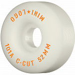 "Mini Logo Skateboard Wheels C-cut ""2"" 52mm 101A White 4pk"
