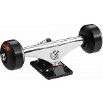 "Mini Logo Truck Assembly - 7.13"" Split Polished/Black - ML Bearings - 53mm90a Black Wheels"