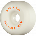 "Mini Logo Skateboard Wheels A-cut ""2"" 56mm 95a White 4pk"