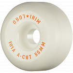 "Mini Logo Skateboard Wheels A-cut ""2"" 55mm 101A White 4pk"