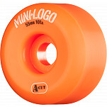 Mini Logo Skateboard Wheels A-cut 55mm 101A Orange 4pk