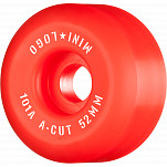 "Mini Logo Skateboard Wheels A-cut ""2"" 52mm 101A Red 4pk"