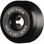 "Mini Logo Skateboard Wheels A-cut ""2"" 52mm 95A Black 4pk"