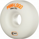Mini Logo Skateboard Wheels C-cut 54mm 101A White 4pk