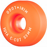"Mini Logo Skateboard Wheels C-cut ""2"" 53mm 101A Orange 4pk"