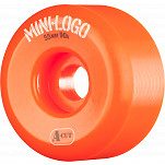Mini Logo Skateboard Wheel A-cut 55mm 90A Orange 4pk