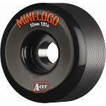 Mini Logo Skateboard Wheel A-cut 55mm 101A Black 4pk