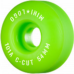 "Mini Logo Skateboard Wheels C-cut ""2"" 54mm 101A Green 4pk"