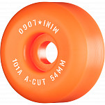 "Mini Logo Skateboard Wheels A-cut ""2"" 54mm 101A Orange 4pk"