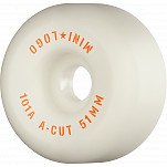 "Mini Logo Skateboard Wheels A-cut ""2"" 51mm 101A White 4pk"