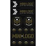 Mini Logo Sticker Multi 10 pk