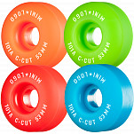 "Mini Logo Skateboard Wheels C-cut ""2"" 53mm 101A Assorted 4pk"