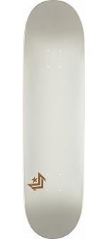 Mini Logo Chevron Skateboard Deck 124 Pearl White - 7.5 x 31.375