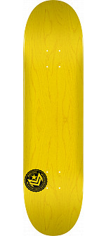 "MINI LOGO CHEVRON STAMP ""12"" SKATEBOARD DECK 124 YELLOW - 7.5 X 31.375"
