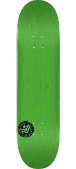 "MINI LOGO CHEVRON STAMP 2 ""13"" SKATEBOARD DECK 191 GREEN - 7.5 X 28.65"