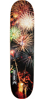 Mini Logo Small Bomb Skateboard Deck 248 Fireworks - 8.25 x 31.95