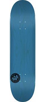 "MINI LOGO CHEVRON STAMP 2 ""13"" SKATEBOARD DECK 191 BLUE - 7.5 X 28.65"