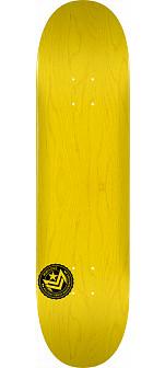 "MINI LOGO CHEVRON STAMP ""12"" SKATEBOARD DECK 242 YELLOW - 8 X 31.45"