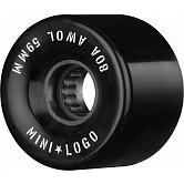 Mini Logo AWOL Skateboard Wheels 59mm 80A Black 4pk