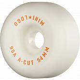 "Mini Logo Skateboard Wheels A-cut ""2"" 54mm 95A White 4pk"
