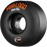 Mini Logo Skateboard Wheels C-cut 52mm 101A Black 4pk