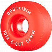"Mini Logo Skateboard Wheels C-cut ""2"" 54mm 101A Red 4pk"