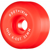 "Mini Logo Skateboard Wheels A-cut ""2"" 53mm 101A Red 4pk"