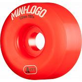 Mini Logo Skateboard Wheels A-cut 52mm 101A Red 4pk