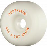 "Mini Logo Skateboard Wheels A-cut ""2"" 55mm 90A White 4pk"