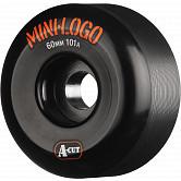Mini Logo Skateboard Wheel A-cut 60mm 101A Black 4pk