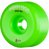 Mini Logo Skateboard Wheel A-cut 55mm 90A Green 4pk