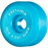 """Mini Logo Skateboard Wheels A-cut """"2"""" 54mm 101A Blue 4pk"""