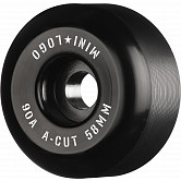 "Mini Logo Skateboard Wheels A-cut ""2"" 58mm 90A Black 4pk"