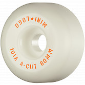 "Mini Logo Skateboard Wheels A-cut ""2"" 60mm 101A White 4pk"