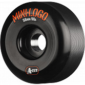 Mini Logo Skateboard Wheels A-cut 58mm 90A Black 4pk
