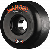 Mini Logo Skateboard Wheel A-cut 58mm 101A Black 4pk