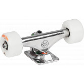"Mini Logo 8.38"" Rough Polished Trucks + ML Bearings + A-cut 53mm x 101a White Wheels"