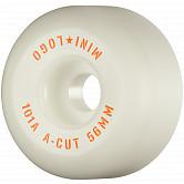 "Mini Logo Skateboard Wheels A-cut ""2"" 56mm 101A White 4pk"