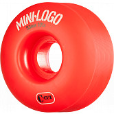 Mini Logo Skateboard Wheel C-cut 53mm 101A Red 4pk