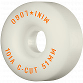 "Mini Logo Skateboard Wheels C-cut ""2"" 51mm 101A White 4pk"