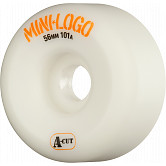 Mini Logo Skateboard Wheel A-cut 56mm 101A White 4pk