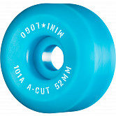 "Mini Logo Skateboard Wheels A-cut ""2"" 52mm 101A Blue 4pk"
