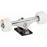 "Mini Logo 8.38"" Rough Polished/Black Trucks + ML Bearings + A-cut 53mm x 101a White Wheels"