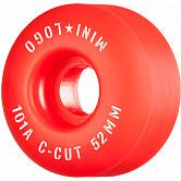 "Mini Logo Skateboard Wheels C-cut ""2"" 52mm 101A Red 4pk"